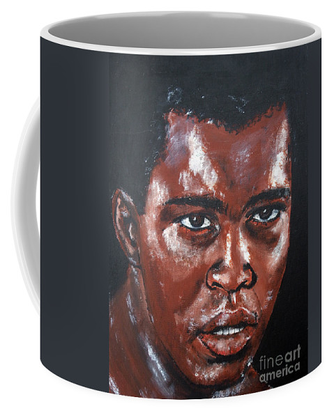 Muhammad Ali Coffee Mug featuring the painting Muhammad Ali Formerly Cassius Clay by Jim Fitzpatrick