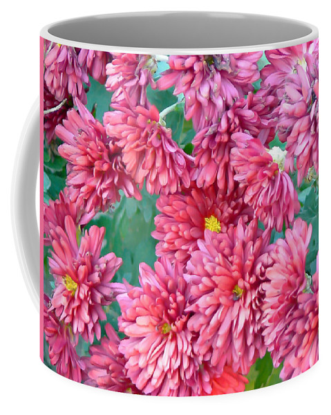 Mum Coffee Mug featuring the photograph Mums The Word by Pamela Patch