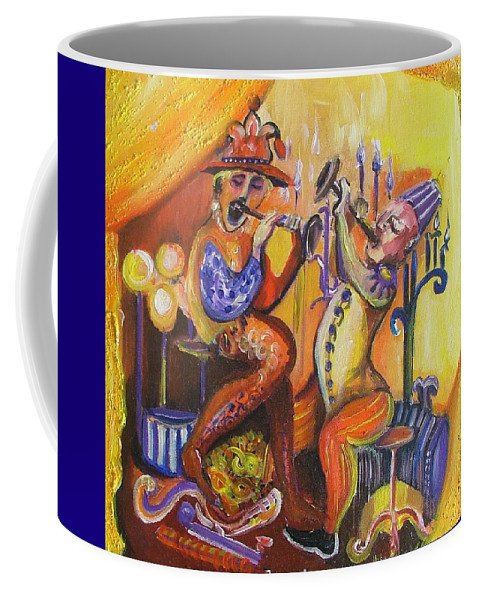 Painting Coffee Mug featuring the painting Musical Evening by Rita Fetisov