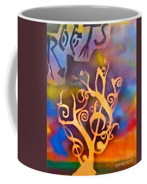 Tree Coffee Mug featuring the painting Musical Roots by Tony B Conscious