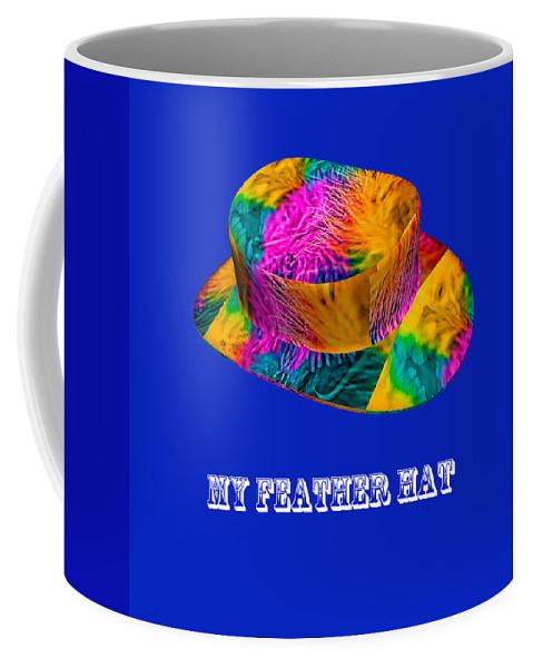 Marabou Feather Coffee Mug featuring the photograph My Feather Hat by Steve Purnell