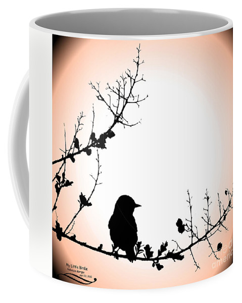 Silhouette Coffee Mug featuring the photograph My Little Birdie by Rebecca Morgan