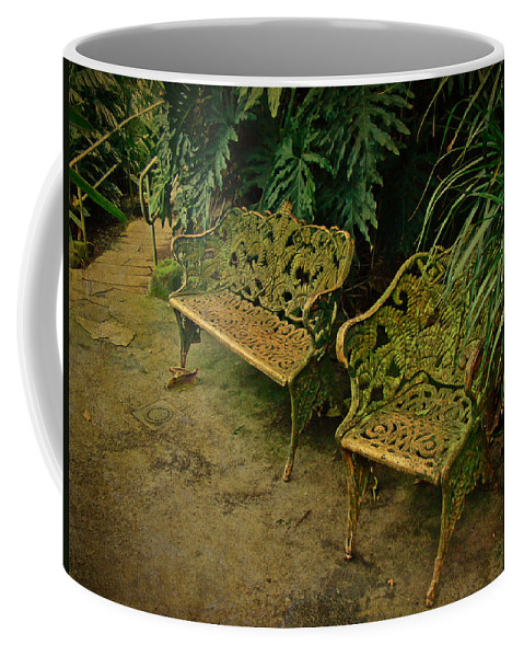 Benches Coffee Mug featuring the photograph My Little Corner Of The World by Mother Nature
