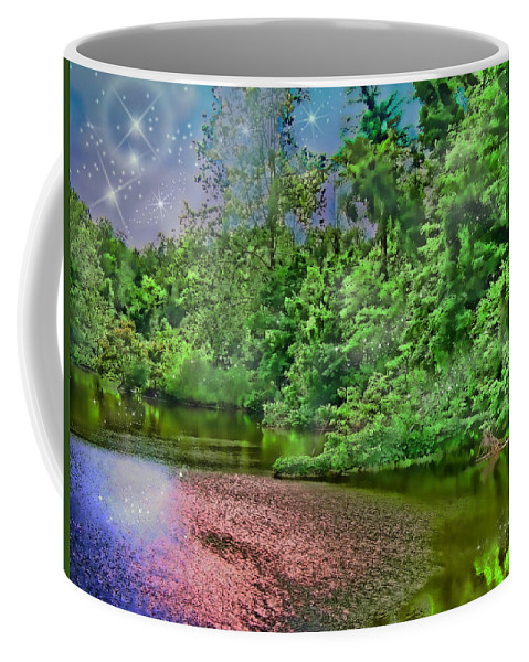Botanical Coffee Mug featuring the photograph Mystic Lake by Debbie Portwood