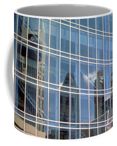 Abstract Coffee Mug featuring the photograph Nashville Reflections by Alan Look