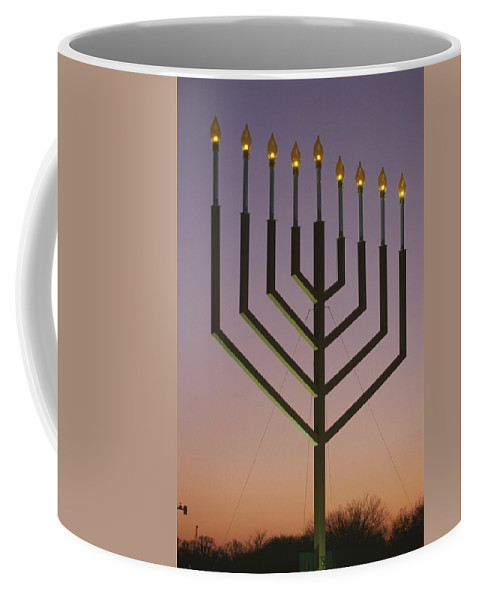 North America Coffee Mug featuring the photograph National Menorah, Elipse, Washington by Richard Nowitz