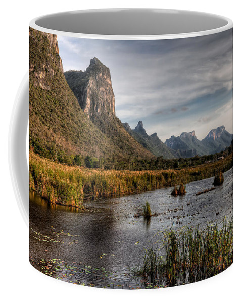 Lake Coffee Mug featuring the photograph National Park Thailand by Adrian Evans