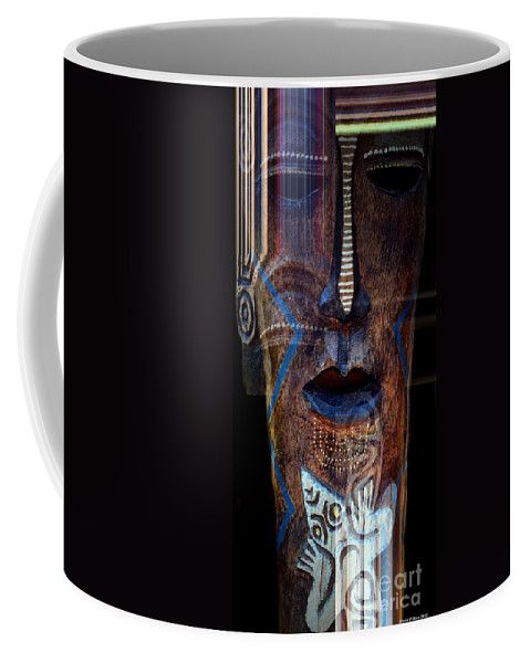 Native Africa 3 Coffee Mug featuring the digital art Native Africa 3 by Maria Urso