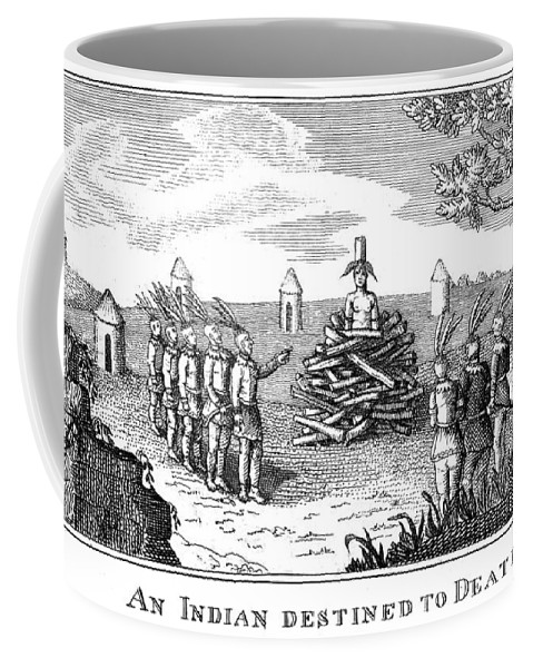 1813 Coffee Mug featuring the photograph Native American Punishment by Granger