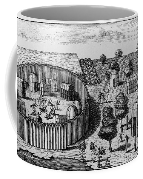 1705 Coffee Mug featuring the photograph Native American Village by Granger