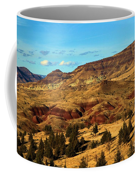 John Day Fossil Beds National Monument Coffee Mug featuring the photograph Natural Paint by Adam Jewell
