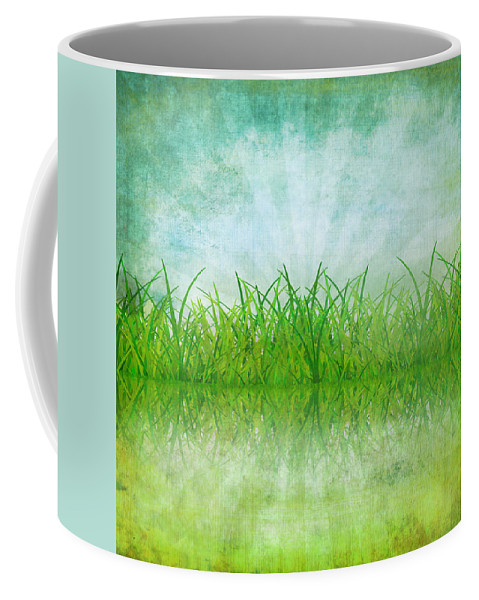 Abstract Coffee Mug featuring the photograph Nature And Grass On Paper by Setsiri Silapasuwanchai