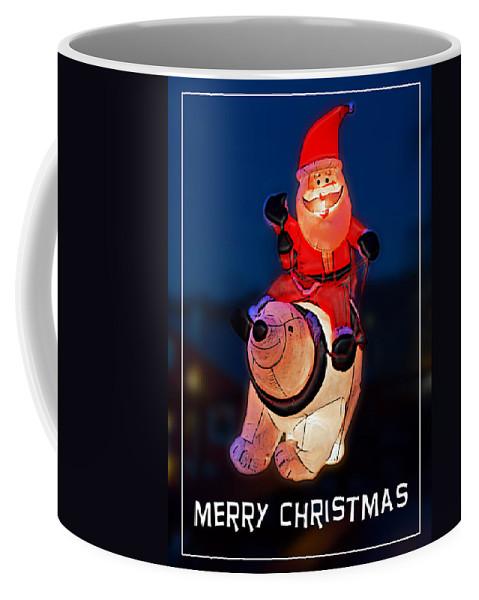 Christmas Coffee Mug featuring the photograph Nature Center Santa Card by John Haldane