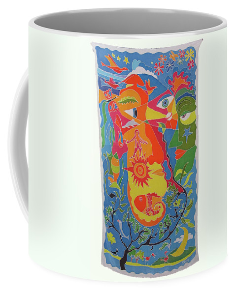 Nature Coffee Mug featuring the painting Nature by Rollin Kocsis