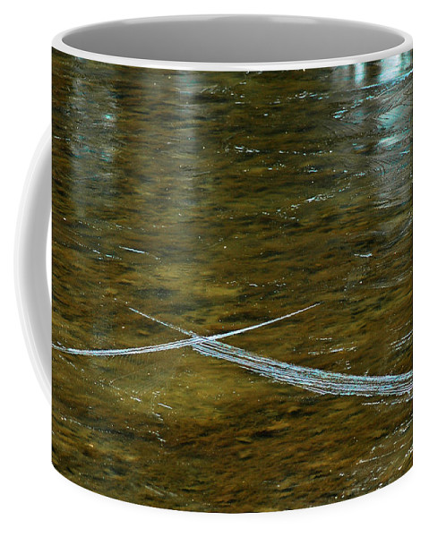 Blue Coffee Mug featuring the photograph Natures Ice Cross Michigan by LeeAnn McLaneGoetz McLaneGoetzStudioLLCcom