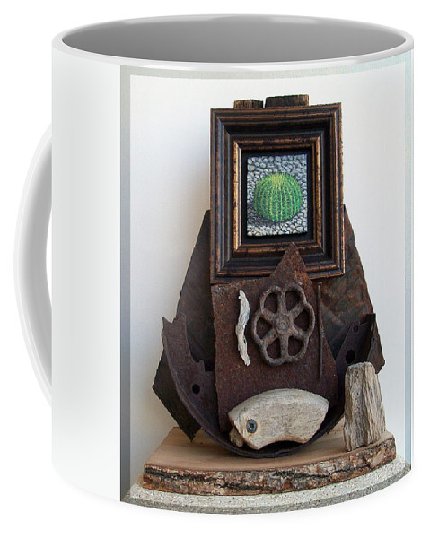 Sculpture Coffee Mug featuring the sculpture Navigate South by Snake Jagger