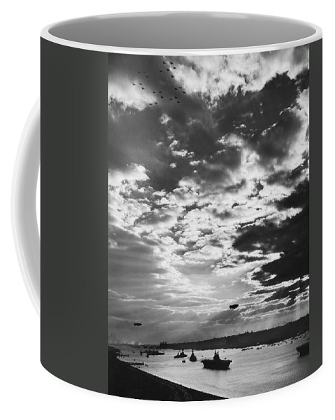 1940's Coffee Mug featuring the photograph Navy Day In New York by Underwood Archives