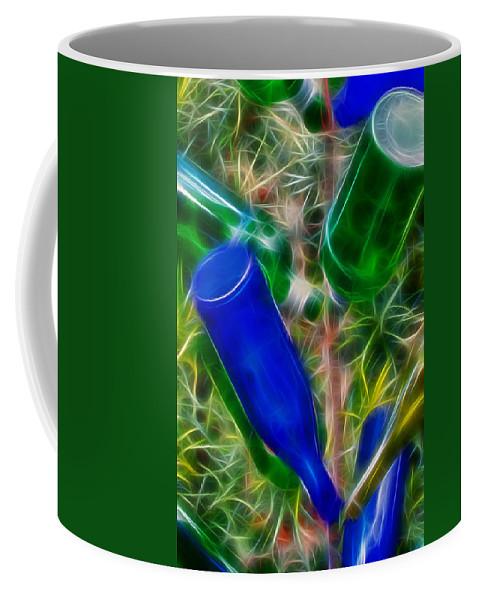 Wine Coffee Mug featuring the digital art Naw'lins Wine Bottle Tree by Lynne Jenkins