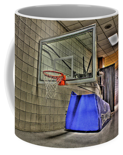 Coffee Mug featuring the photograph Nba Hoop Auburn Hills Mi by Nicholas Grunas