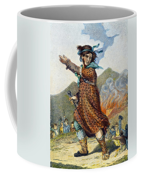 1812 Coffee Mug featuring the drawing Ned Lud by Granger