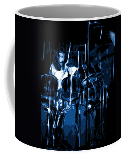 Rock Art Coffee Mug featuring the photograph Blue Drums by Ben Upham