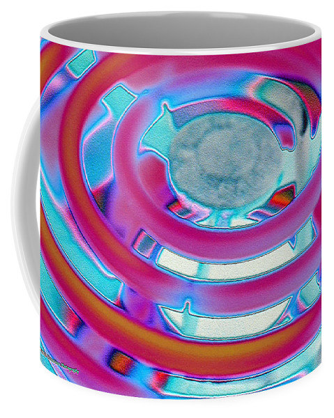 Neon Coffee Mug featuring the photograph Neon Burner by Michael Merry