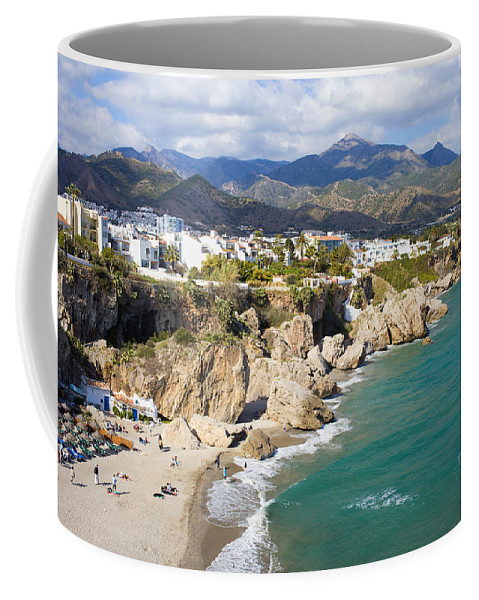 Costa Coffee Mug featuring the photograph Nerja Town On Costa Del Sol In Spain by Artur Bogacki