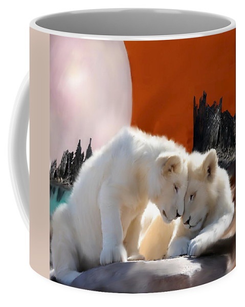 Conservation Art Coffee Mug featuring the painting New Beginnings by Shere Crossman