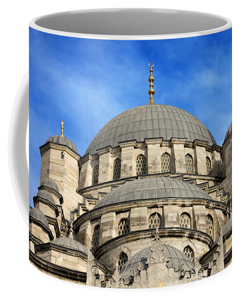Mosque Coffee Mug featuring the photograph New Mosque Domes In Istanbul by Artur Bogacki