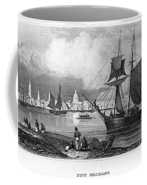 1847 Coffee Mug featuring the photograph New Orleans, 1847 by Granger