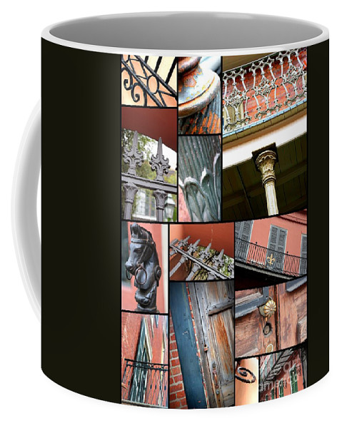 New Orleans Coffee Mug featuring the photograph New Orleans Collage 1 by Carol Groenen