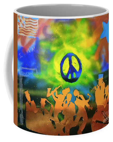 Jazz Coffee Mug featuring the painting New Orleans by Tony B Conscious