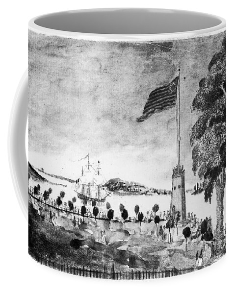 1793 Coffee Mug featuring the photograph New York: Battery, 1793 by Granger