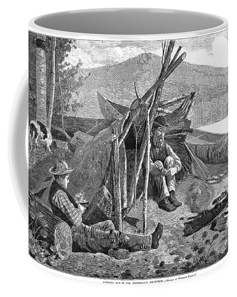 1874 Coffee Mug featuring the photograph New York: Camping, 1874 by Granger
