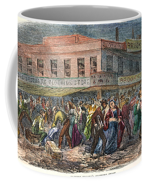 1863 Coffee Mug featuring the photograph New York: Draft Riots 1863 by Granger