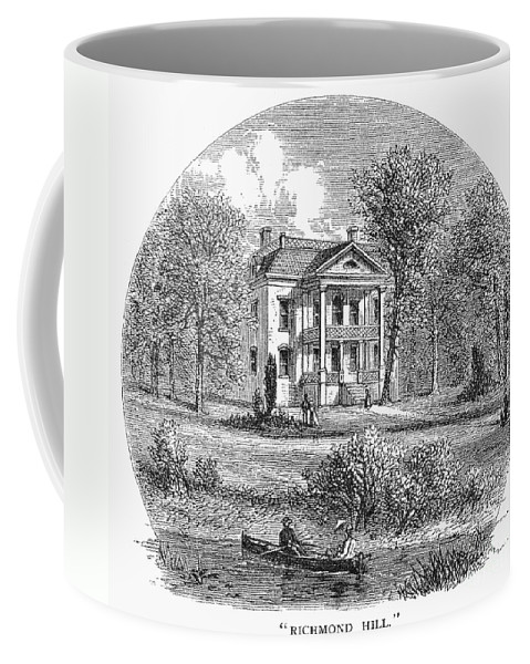 1760 Coffee Mug featuring the photograph New York: Mansion, 1760 by Granger