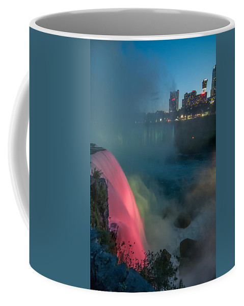 Guy Whiteley Photography Coffee Mug featuring the photograph Niagara At Night by Guy Whiteley