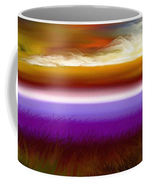 Sunset Coffee Mug featuring the digital art Night Falls by Greg Moores