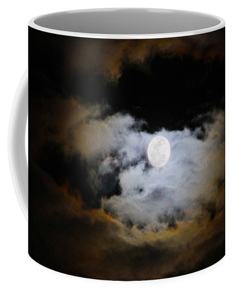 Moon Coffee Mug featuring the photograph Night Of The Full Moon by Diana Haronis