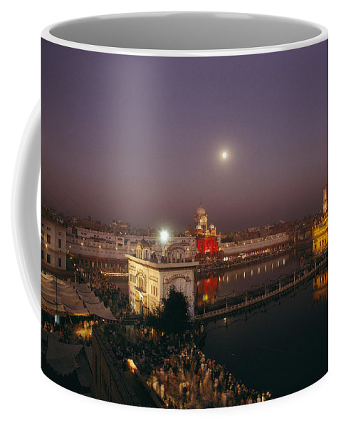 Asia Coffee Mug featuring the photograph Night View Of Amritsar by James P. Blair