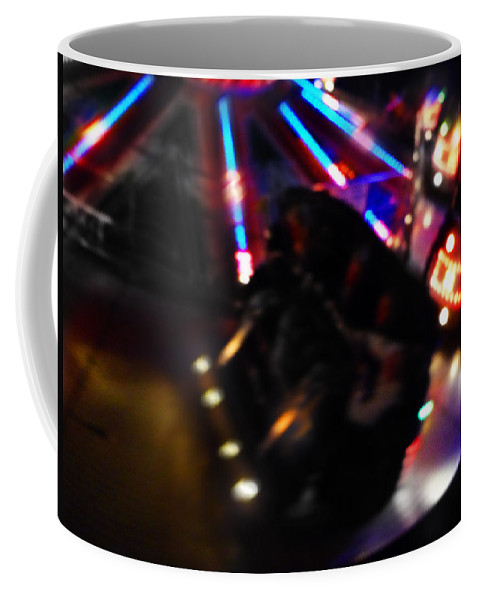 Fairground Ride Coffee Mug featuring the digital art Night Vision by Charles Stuart