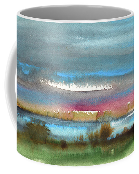 Times Coffee Mug featuring the painting Nightfall 27 by Miki De Goodaboom