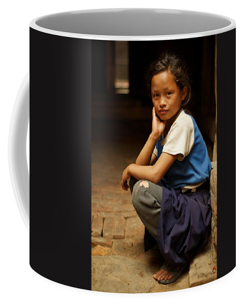 Children Coffee Mug featuring the photograph Nine Years Old by Valerie Rosen
