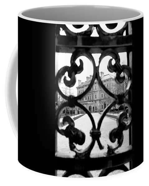 Newport Coffee Mug featuring the photograph No Admittance by Greg Fortier