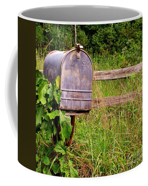 Old Mailbox Coffee Mug featuring the photograph No Mail Today by Marilyn Smith