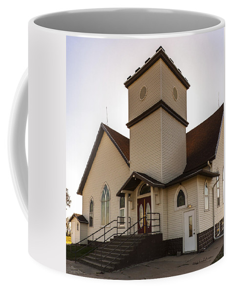 Rural School Coffee Mug featuring the photograph Noble Church by Edward Peterson
