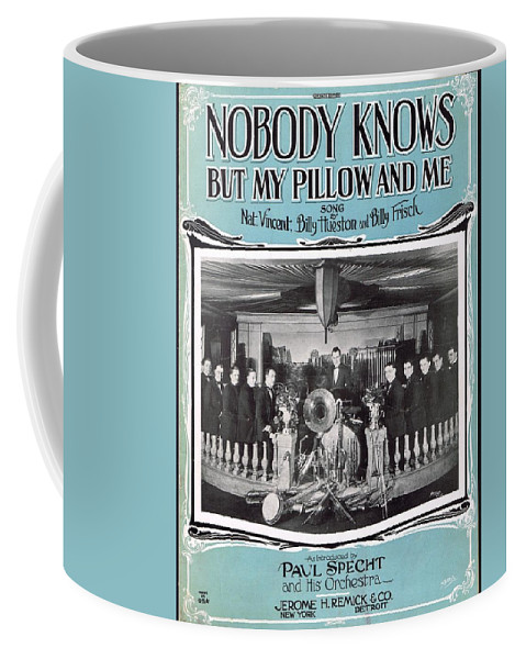 Classic Coffee Mug featuring the photograph Nobody Knows But My Pillow And Me by Mel Thompson