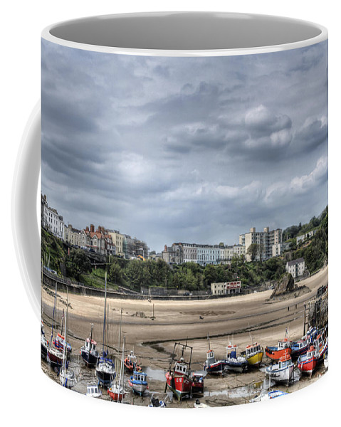 Tenby Pembrokeshire Coffee Mug featuring the photograph North Beach From Tenby Harbour by Steve Purnell