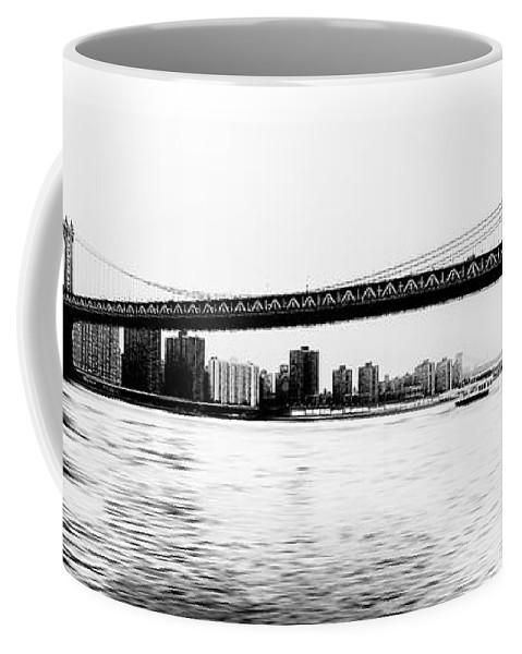 Ny Coffee Mug featuring the photograph Nyc - Manhattan Bridge by Hannes Cmarits