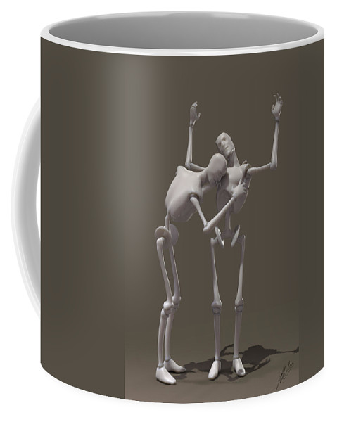 Piety Coffee Mug featuring the digital art Artificial Obedience by Joaquin Abella